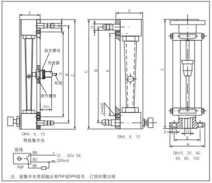 LZB玻璃转子流量计外形
