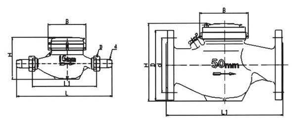 PC200电子式流量开关接线图与尺寸图